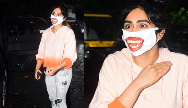 adah sharma,adah sharma funky dracula mask,entertainment ,अदा शर्मा