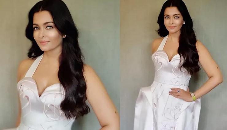 PICS- Aishwarya Rai Bachchan is a Roman beauty in this pristine white gown