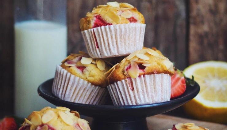 Recipe- Delicious Almond Strawberry Muffins