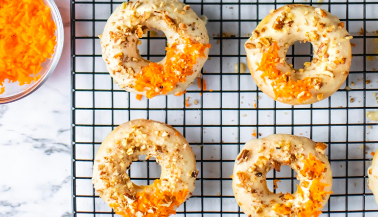 baked carrot cake donuts,baked carrot cake donuts recipe,donuts recipe,carrot cake donuts recipe,recipe