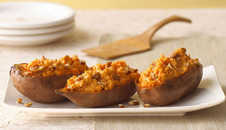 baked sweet potatoes,sweet potato recipe,snacks recipe,dinner recipe