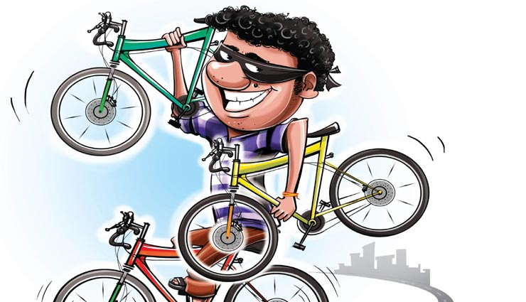 कोटा : कोचिंग के बाहर से मिनटों में चोरी हुई बच्चे की साइकिल, CCTV में कैद वारदात