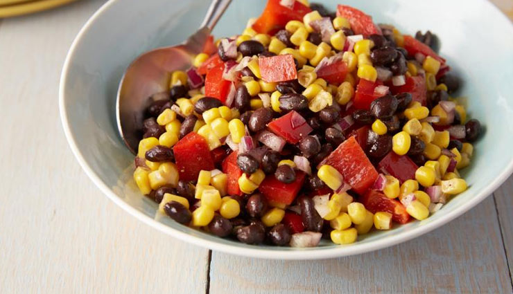 black bean and corn salad,salad recipe,healthy recipe,snacks recipe