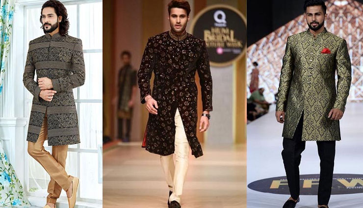trending black sherwani designs for men,sherwani designs for men,mens fashion tips,latest mens fashion trends,wedding season mens fashion trends,fashion tips