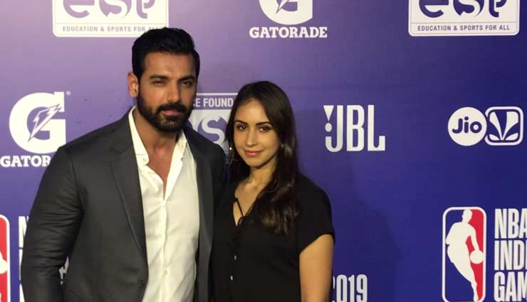 bollywood celebrities,nba india games red carpet,nba india games,john abraham,nita ambani,malaika arora