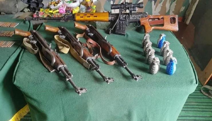 जम्मू-कश्मीर / माछिल सेक्टर में घुसपैठ नाकाम, हथियार और विस्फोटक बरामद