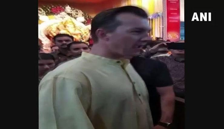 Ganesh Chaturthi 2018: Brett Lee seeks blessing from Sion's GSB Seva Mandal's Bappa in Mumbai