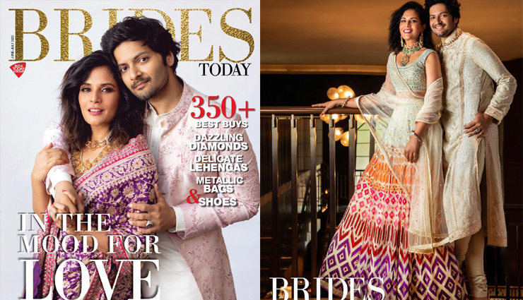 Richa Chadha-Ali Fazal spill the beans on their love story in the issue of a bridal magazine