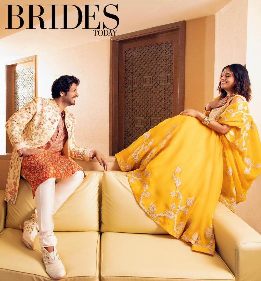 richa chadha,ali fazal,bridal magazine,fashion,latest bridal fashion