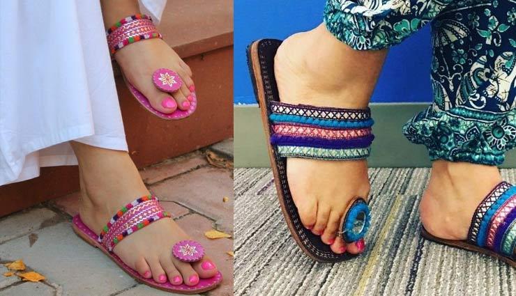 navratri 2019,fashion trends,navratri fashion trends,fashion tips,kolhapuri chappal,mojadi ,कोल्हापुरी चप्पल, फैशन टिप्स, नवरात्रि 2019