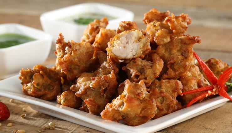 chicken pakora,chicken pakora recipe,tea time snack recipe,recipe,hunger struck,quick recipe