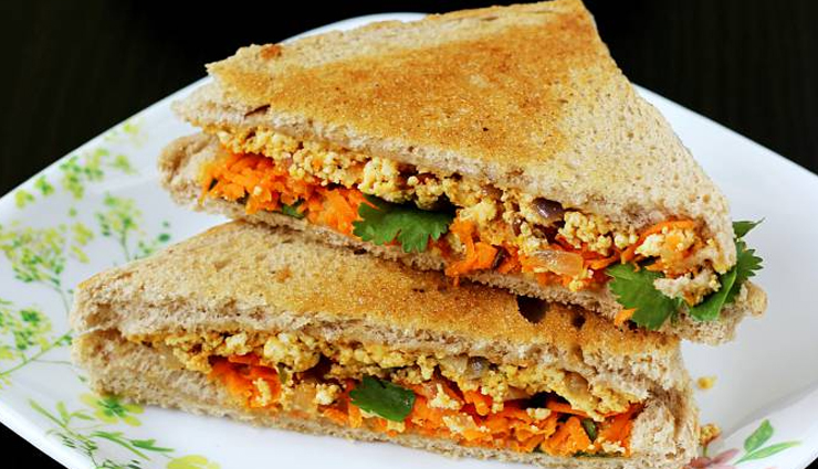 Recipe- Mouthwatering Paneer Grilled Sandwich