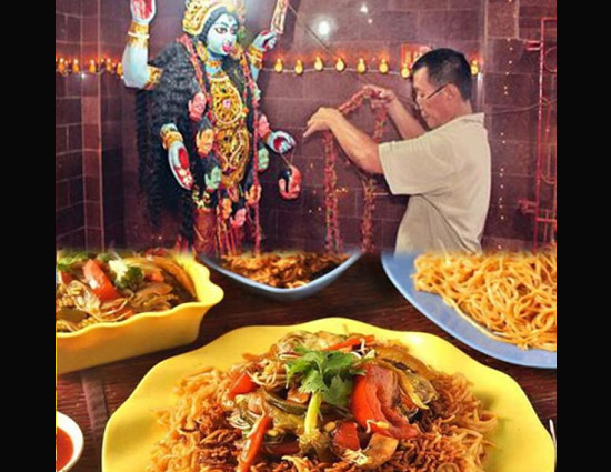 Story of Kaali Maa Temple That Serves 'Noodles' as Prasad