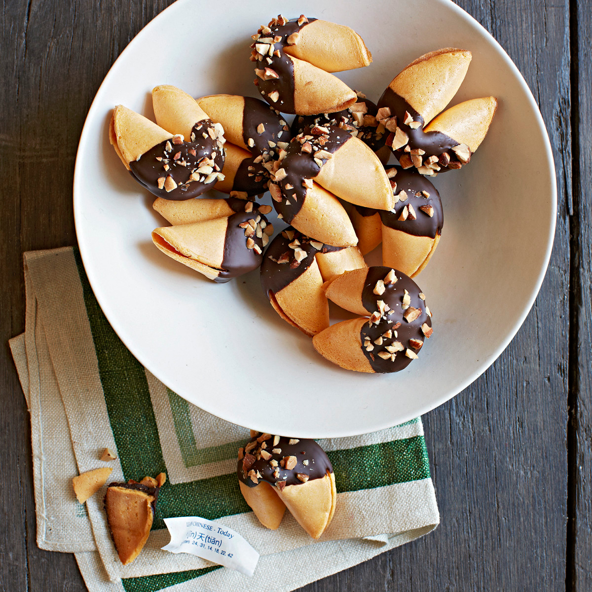 chocolate dipped fortune cookies,chocolate dipped fortune cookies recipe,fortune cookies recipe,cookies recipe,recipe