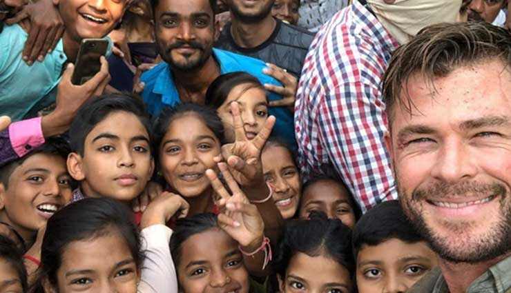 Chris Hemsworth shares beautiful selfie with fans in Ahmedabad while shooting Netflix film 'Dhaka'