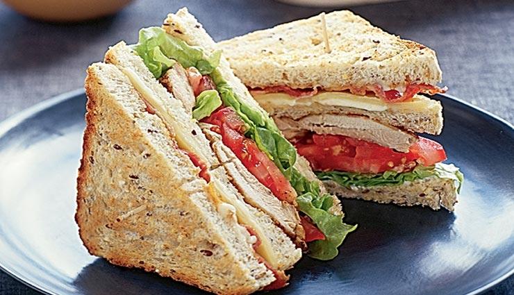 मिनटों में तैयार होगा हेल्दी ब्रेकफास्ट क्लब सैंडविच, बढे चाव से खाएंगे बच्चे #Recipe