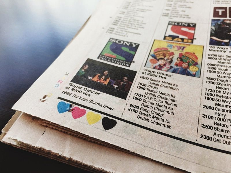 4 color dots,newspaper ,अख़बार, अखबार पर रंगीन बिंदु, रंगीन बिंदुओं का कारण