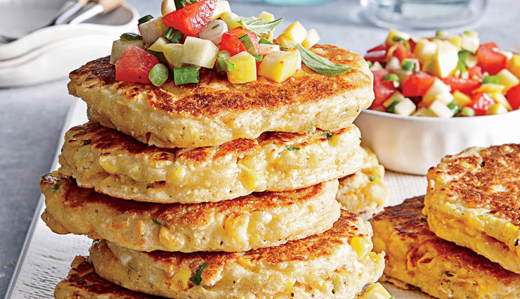 Recipe- Fresh Corn Cakes with Summer Salsa