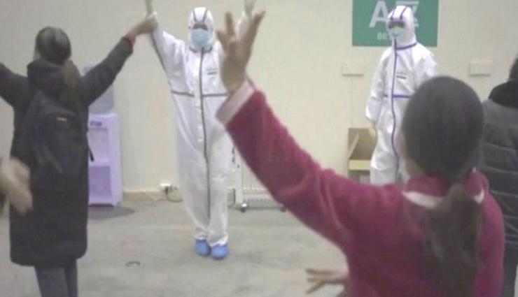 चीन में कोरोना के मरीजों में दिखा फिट रहने का जज्बा, देखे वीडियो