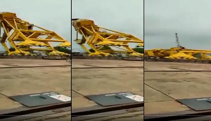 11 killed after massive crane collapses in Andhra Pradesh; incident captured on video