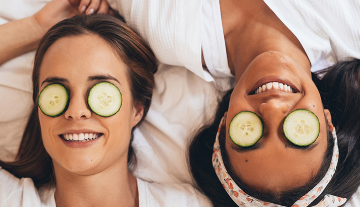 cucumber for glowing skin,tips to use cucumber for skin,beauty tips,beauty hacks,cucumber for skin