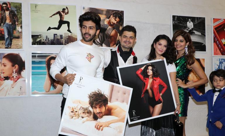 dabboo ratnani 2019 calendar launch,dabboo ratnani 2019 calendar,kartik aaryan,kiara advani,rekha,vidya balan,sunny leone,entertainment news