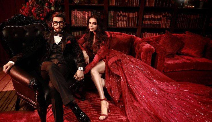 ब्लैक सूट में रणवीर और रेड गाउन में दीपिका, कमाल की लग रही थी इनकी जोड़ी, देखे तस्वीरें