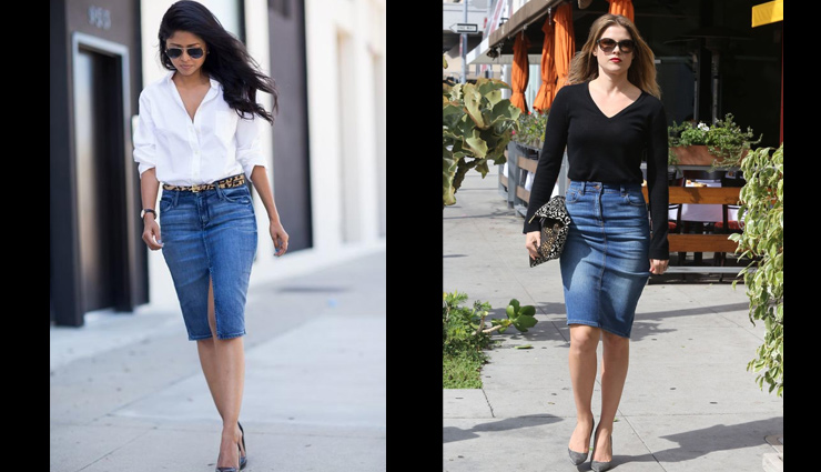 5 Tops You Can Style With Denim Pencil Skirt
