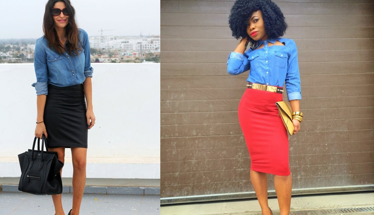 f3794c7776 5 Ways To Style Your Denim Shirt This Winters - lifeberrys.com