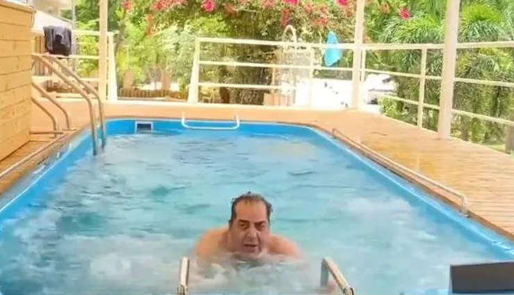 धर्मेंद्र को यूं ही नहीं कहते 'ही-मैन', एक्टर ने 85 की उम्र में Pool में किया वॉटर एरोबिक्स, देखे वीडियो