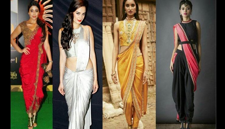 fashion tips,saree design,fashion trends,saree style,saree tips ,साड़ी, बेल्टेड पैंट साड़ी, धोती स्टाइल साड़ी, पेपलम साड़ी, प्लाजो साड़ी, साडी टिप्स, फैशन टिप्स, साडी स्टाइल