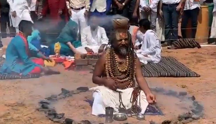 computer baba,hath yoga,for the victory of digvijay singh,sadhus did ramai dhuni ,लोकसभा चुनाव 2019,भोपाल चुनाव, साध्वी प्रज्ञा ठाकुर