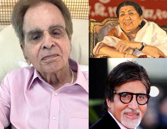 लता मंगेशकर से लेकर अमिताभ बच्चन तक कई फिल्मी हस्तियों ने दी दिलीप कुमार को जन्मदिन की बधाई