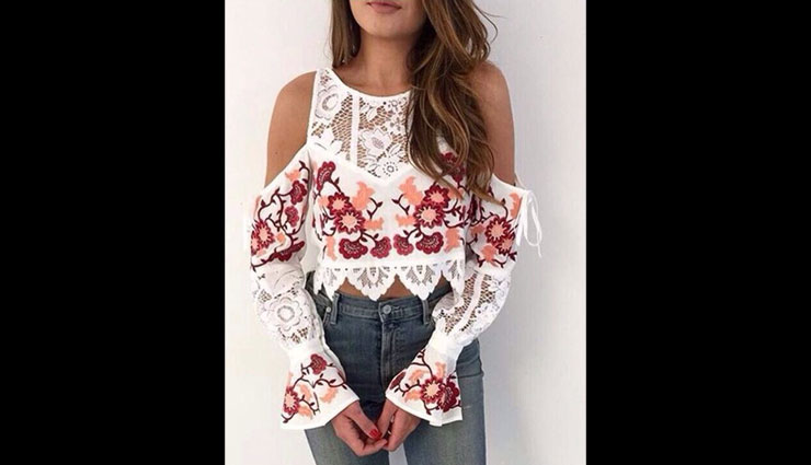 embroidery tops,fashion tips,latest fashion trends,sheer embroidered top,long party embroidered top,embroidered shirt,embroidered off-shoulder top,crop embroidered top