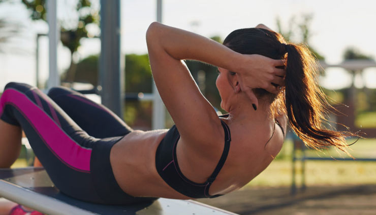 belly fat,exercises to lose belly fat,fitness tips,Health tips,fat losing exercises,basic abdominal crunch,swiss-ball abdominal crunch,bicycle crunch,reverse crunch,swiss ball side bends