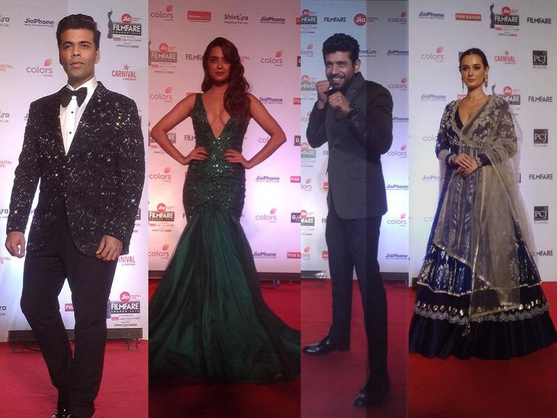 63rd filmfare awards,63rd filmfare awards pics,ranveer singh,shahid kapoor,sunny leone,kajol,jaya bachchan,Akshay Kumar,sonam kapoor,madhuri dixit nene,arjun kapoor,vidya balan,preity zinta,Shah Rukh Khan