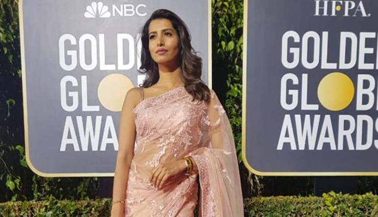 PICS- Former Miss India slays the Golden Globes 2019 red carpet in a saree