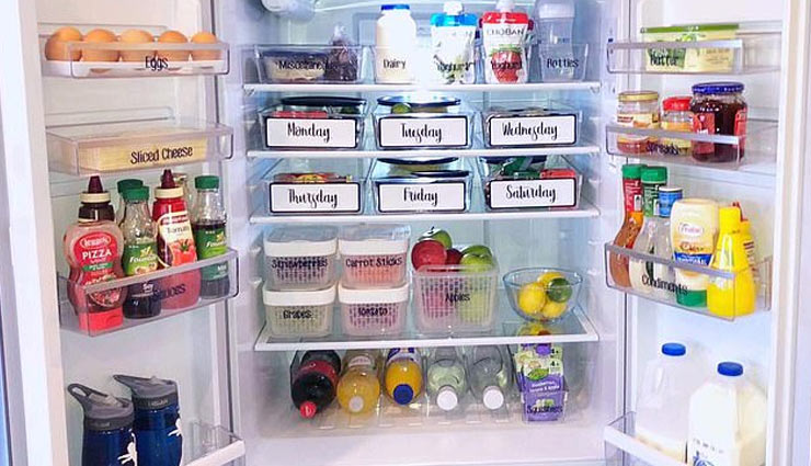 fridge organizing ways,fridge managing ways,refrigerator,tips to manage refrigerator,household tips,home decor ,फ्रिज को रखे व्यवस्थित, हाउसहोल्ड टिप्स, होम डेकोर, रेफ्रीजिरेटर