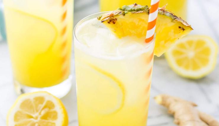 mango ginger lemonade,mango ginger lemonade recipe,how to make  mango ginger lemonade,hunger struck,easy recipes,food