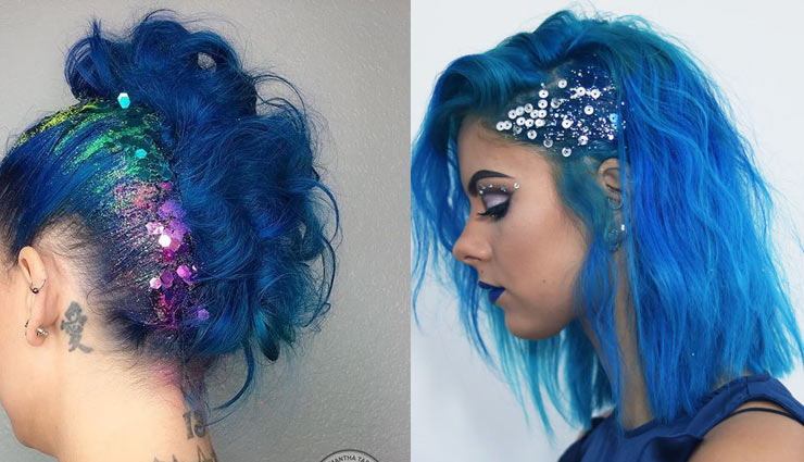 use of glitter,make up tips,beauty tips,eye make up,nail art ,मेकअप टिप्स,ब्यूटी टिप्स,ब्यूटी,ग्लिटर,मेकअप