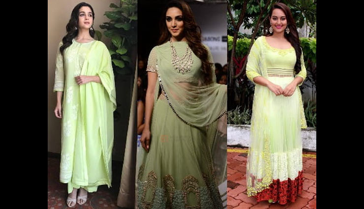 ways to wear green,green color dresses,wedding season fashion tips,latest fashion trends