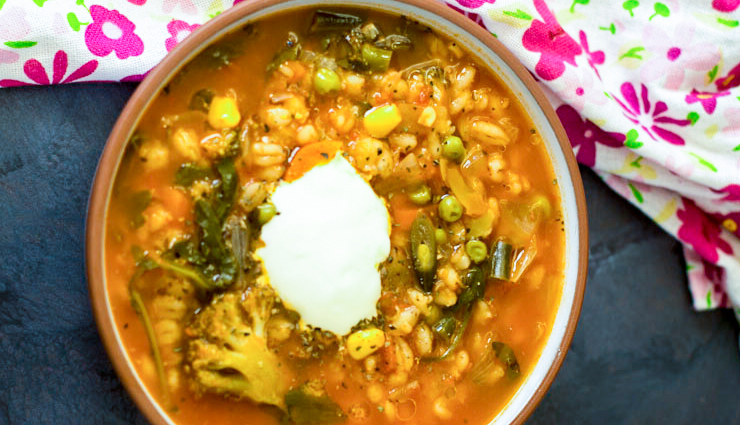 Recipe- Enjoy Rains With Grilled Broccoli and Barley Soup