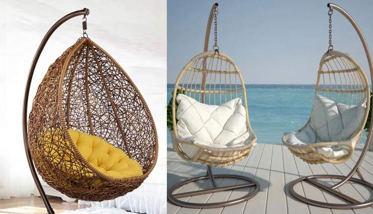 hanging chair,new look to home with hanging chair,household tips,home decor tips ,हैंगिंग चेयर, हैंगिंग चेयर से दें अपने घर को नया लुक , हाउसहोल्ड टिप्स, होम डेकोर टिप्स