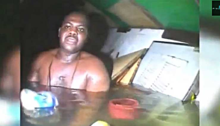 VIDEO- This Man Survived For 60 Hours in Sunken Boat, Without Food or Water