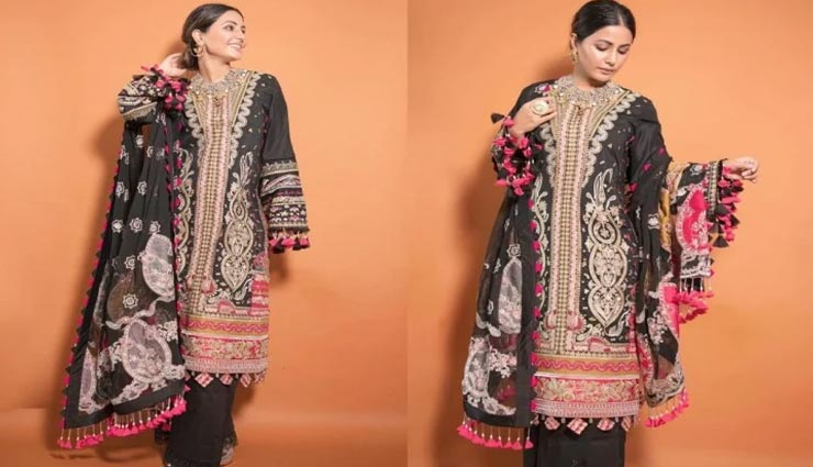 पाकिस्तानी लिबास में हिना खान ने दिखाए अपनी खूबसूरती के तेवर, देखें तस्वीरें