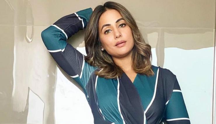 हिना खान ने ब्लू ड्रेस में दिखाया अपना बोल्ड अवतार, वायरल हुआ फोटोशूट