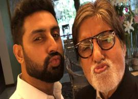Adorable! Abhishek pouts with 'Pa' Amitabh Bachchan in this latest pic