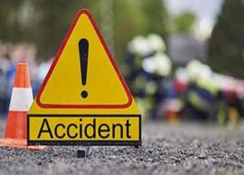 14 school children were injured after a pool car falls into ditch in West Bengal