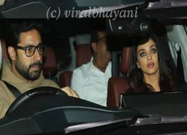 Aishwarya Rai, Abhishek Bachchan visit Sonali Bendre At Her House