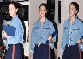 PICS- Alia Bhatt Spotted Wearing The Most Weird Pants-Photo Gallery